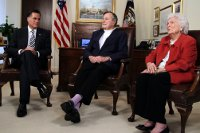Purple Socks, Barbara Bush, George HW Bush, Bush 41, Mitt Romney, Endorsement, Republican Party, Freemasonry, Freemasons, Freemason, Masonic