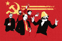 Communist Party Party, Lenin, Marx, Stalin, masonic, freemasons, freemason, freemasonry