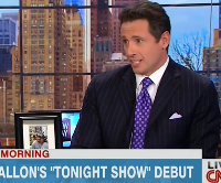 Chris Cuomo, CNN New Day, Purple Checked Tie, masonic, freemasons, Freemasonry