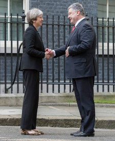 Theresa May, Petro Poroshenko, UK, Ukraine, Prime Minister, Number Ten, Freemasonry, Freemasons, Masonic Lodge