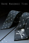 Skull and Crossbones, Masonic Tie, Freemasonry, Freemasons, Freemason, Masonic