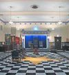 Masonic Temple, Black and White Tiles, Pentagram, Freemasonry, Freemasons, Freemason, Masonic